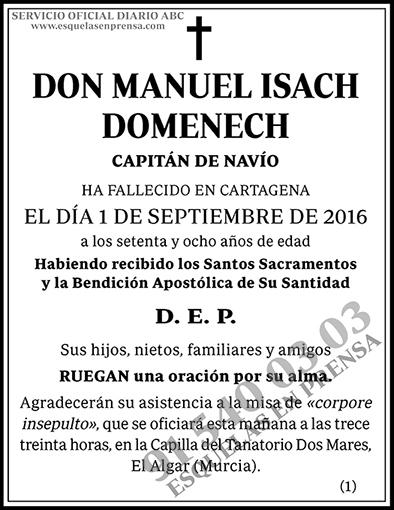 Manuel Isach Domenech